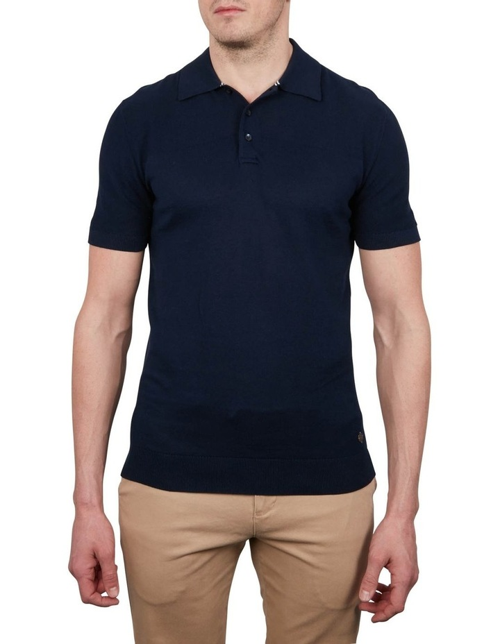 Textured Knit Short Sleeve Polo image 1