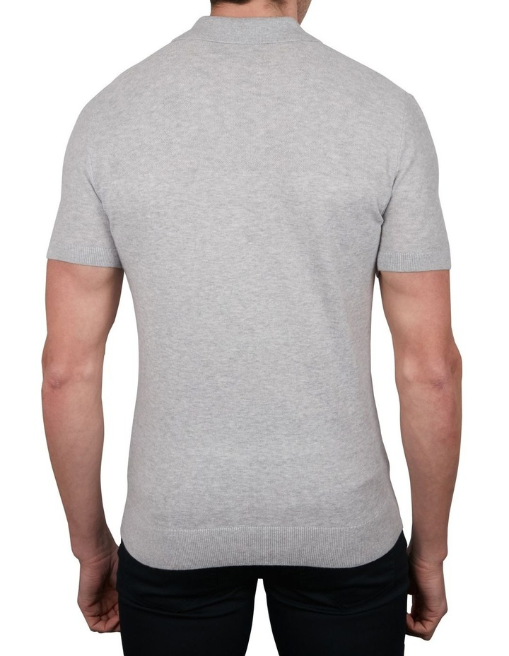 Textured Knit Short Sleeve Polo image 2