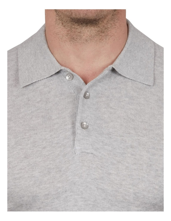 Textured Knit Short Sleeve Polo image 3