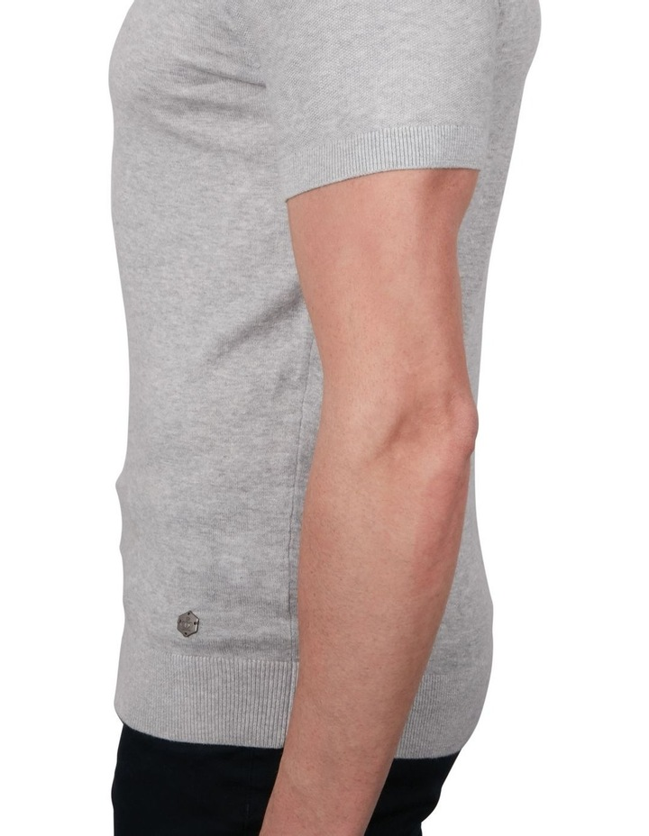 Textured Knit Short Sleeve Polo image 4