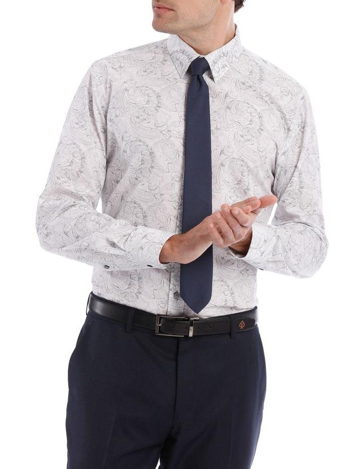 Layered Paisley Print Long Sleeve Shirt image 1