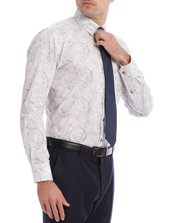 Layered Paisley Print Long Sleeve Shirt image 2