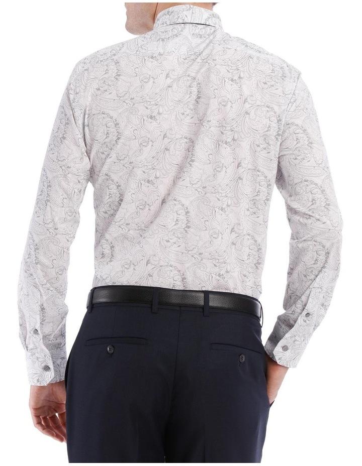 Layered Paisley Print Long Sleeve Shirt image 3
