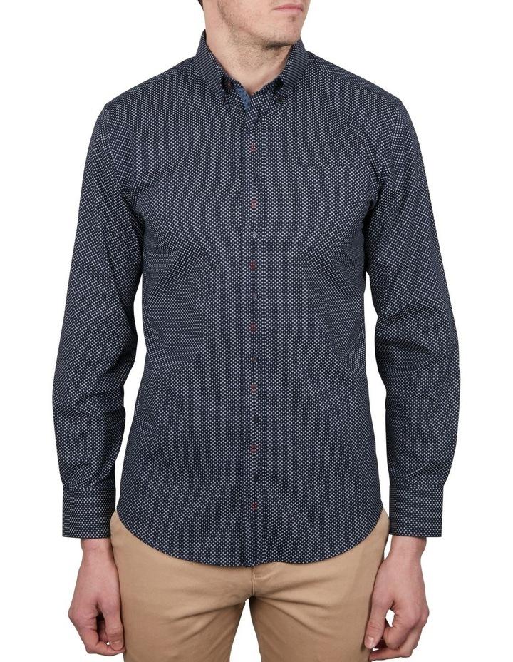 Diamond Dot Print Long Sleeve Shirt image 1