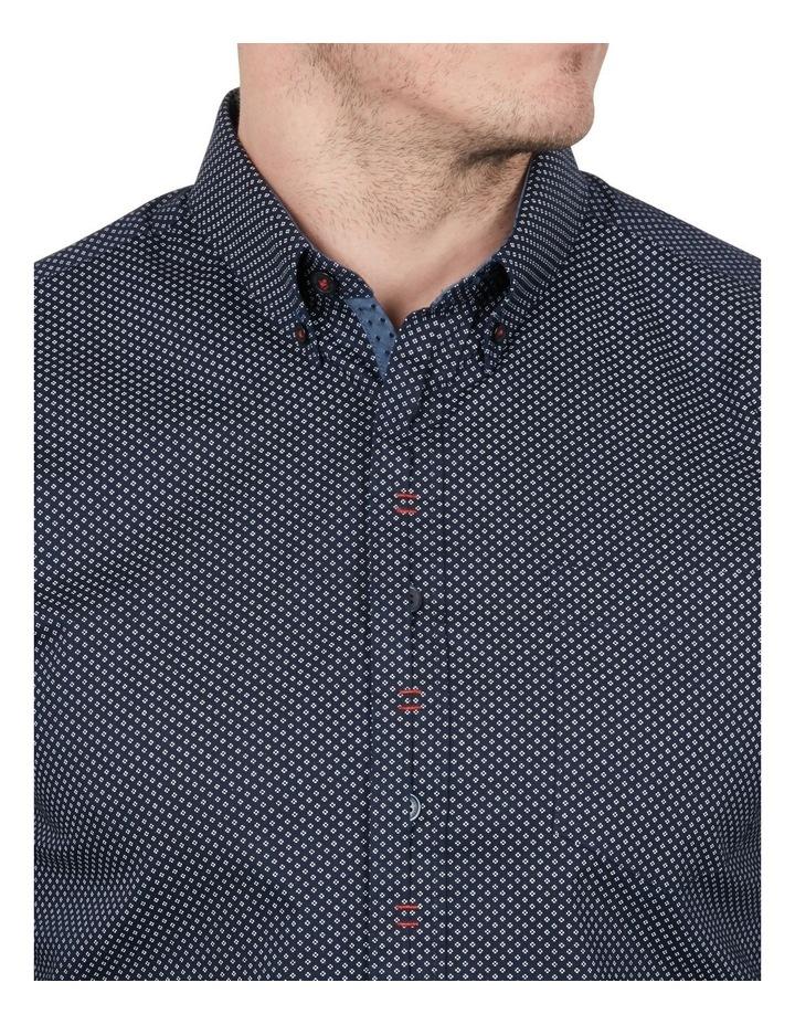Diamond Dot Print Long Sleeve Shirt image 3