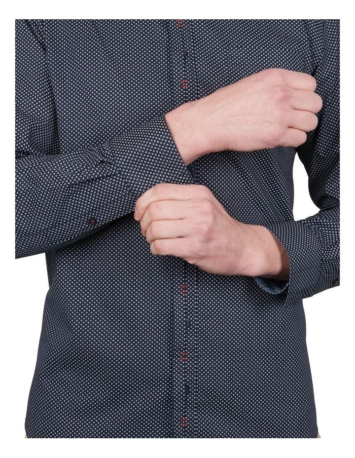 Diamond Dot Print Long Sleeve Shirt image 4