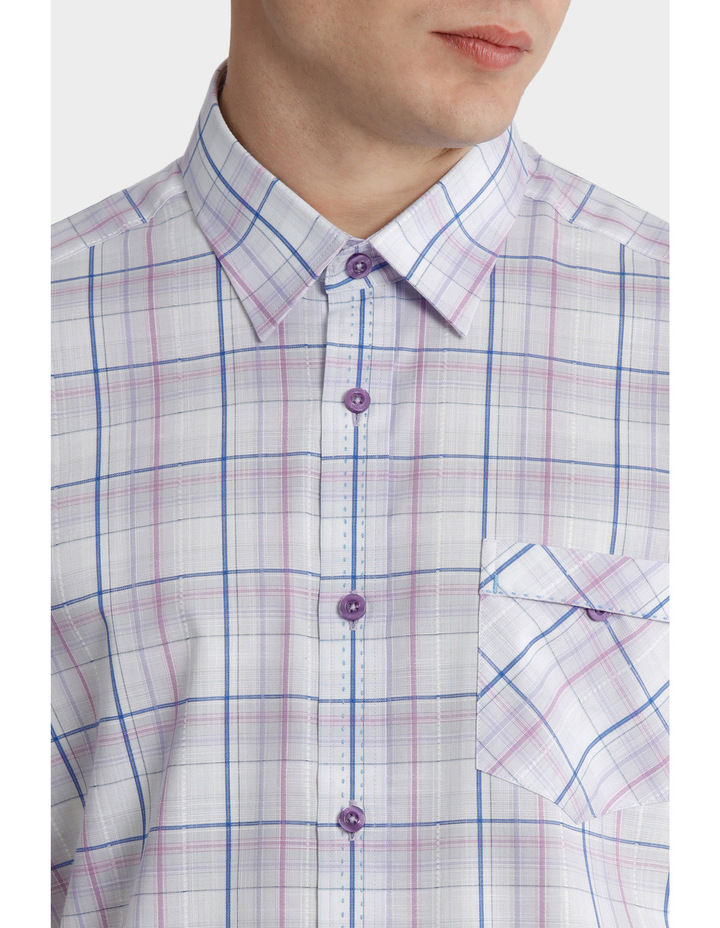 Short Sleeve Check Multi Shirt image 4