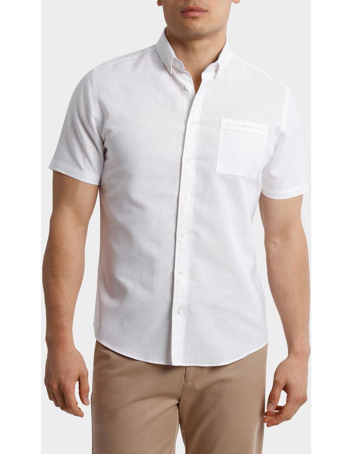 Short Sleeve Linen Cotton Shirt image 1