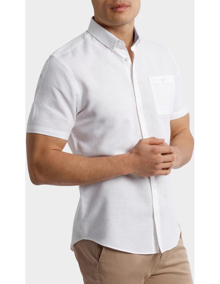 Short Sleeve Linen Cotton Shirt image 2