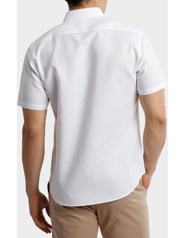 Short Sleeve Linen Cotton Shirt image 3