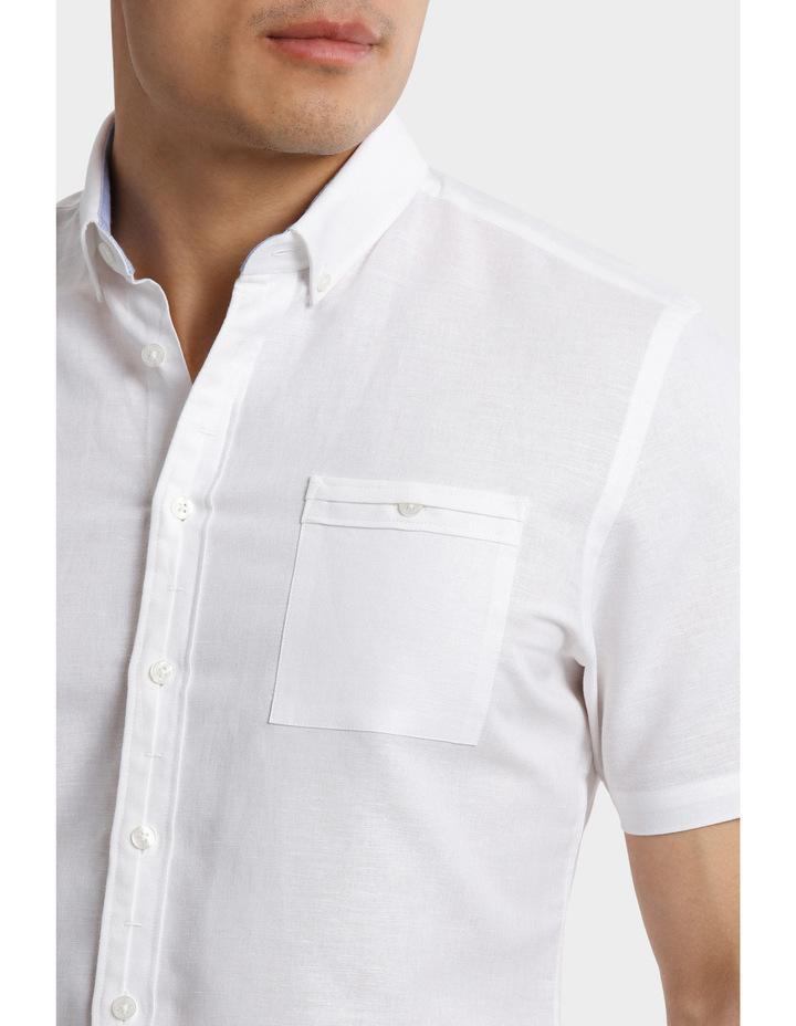 Short Sleeve Linen Cotton Shirt image 4