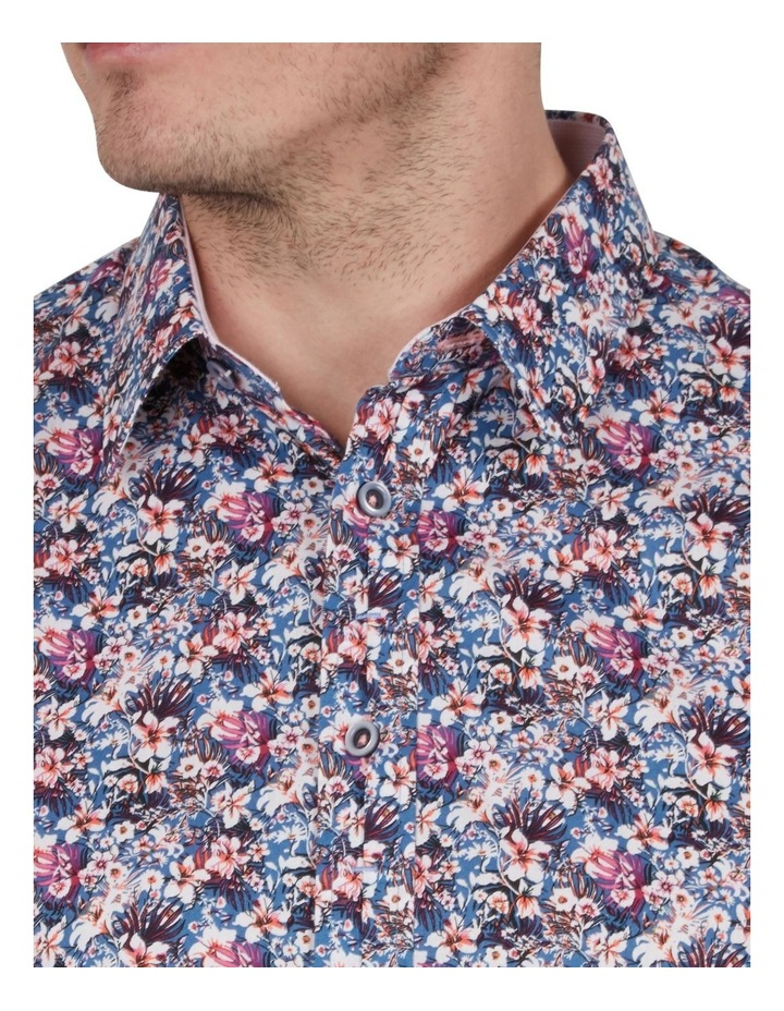 Rhododendron Print Short Sleeve Shirt image 3