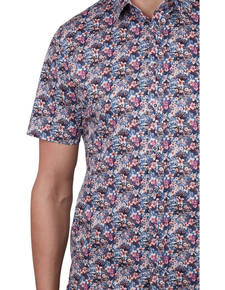 Rhododendron Print Short Sleeve Shirt image 4
