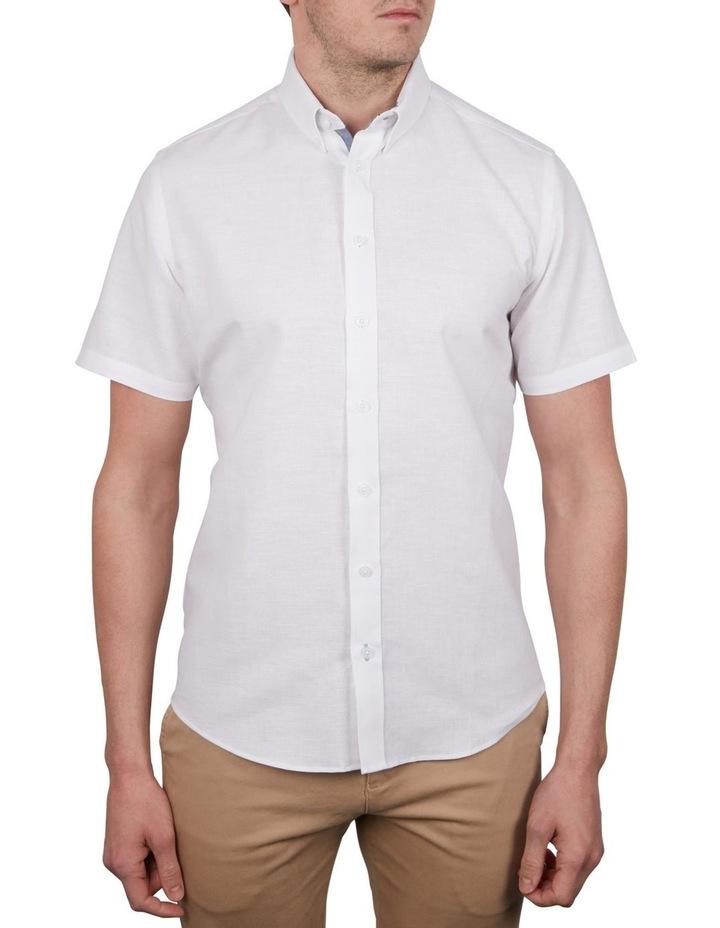 Solid Linen Cotton Short Sleeve Shirt image 1