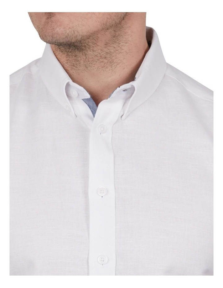 Solid Linen Cotton Short Sleeve Shirt image 2