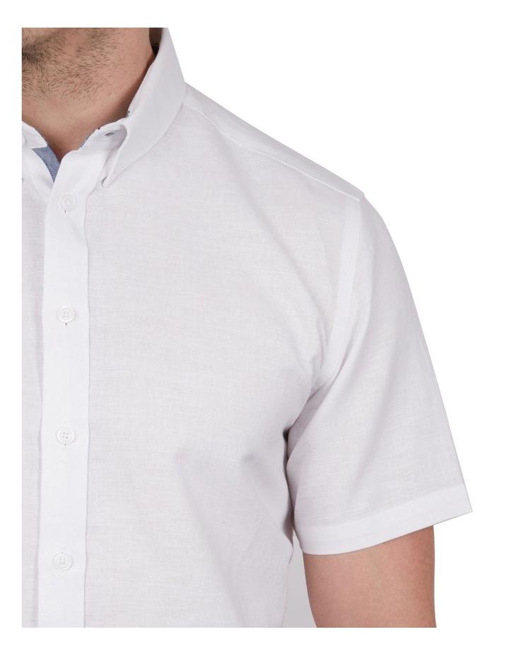 Solid Linen Cotton Short Sleeve Shirt image 3