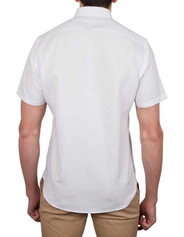 Solid Linen Cotton Short Sleeve Shirt image 4