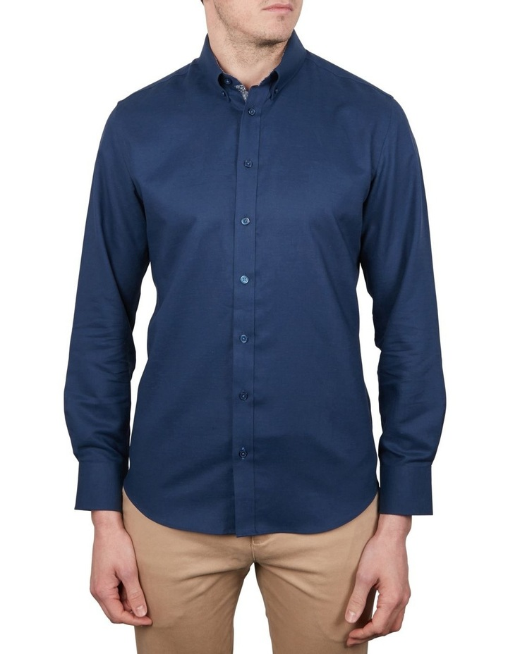 Cotton/Linen Solid Short Sleeve Shirt image 1