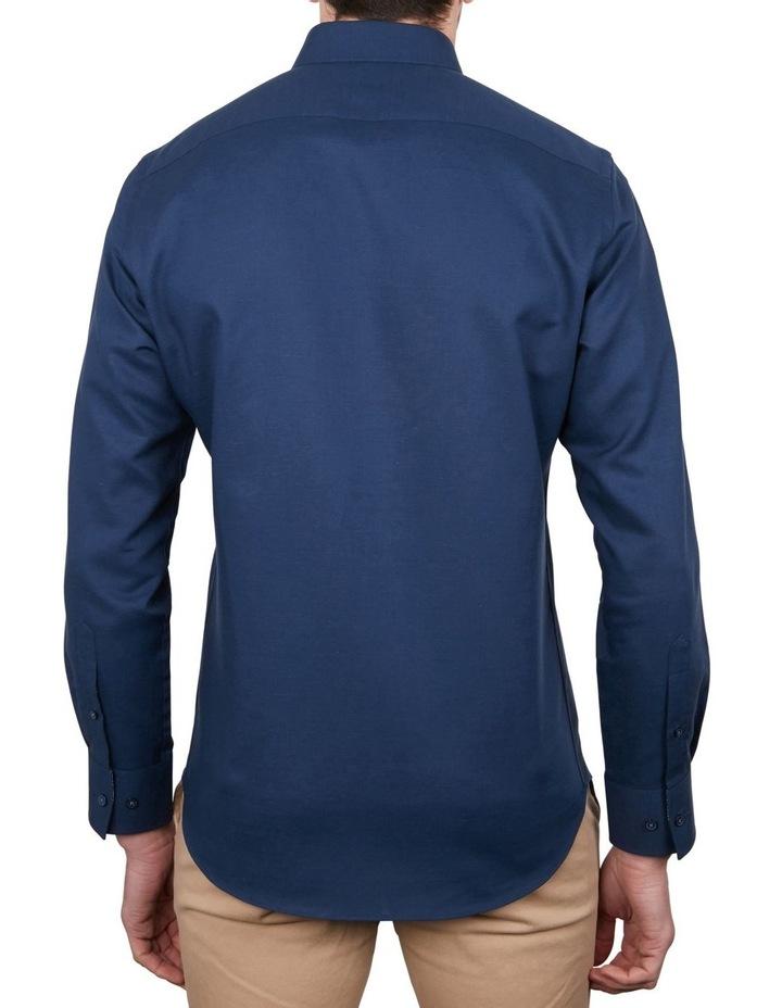Cotton/Linen Solid Short Sleeve Shirt image 2