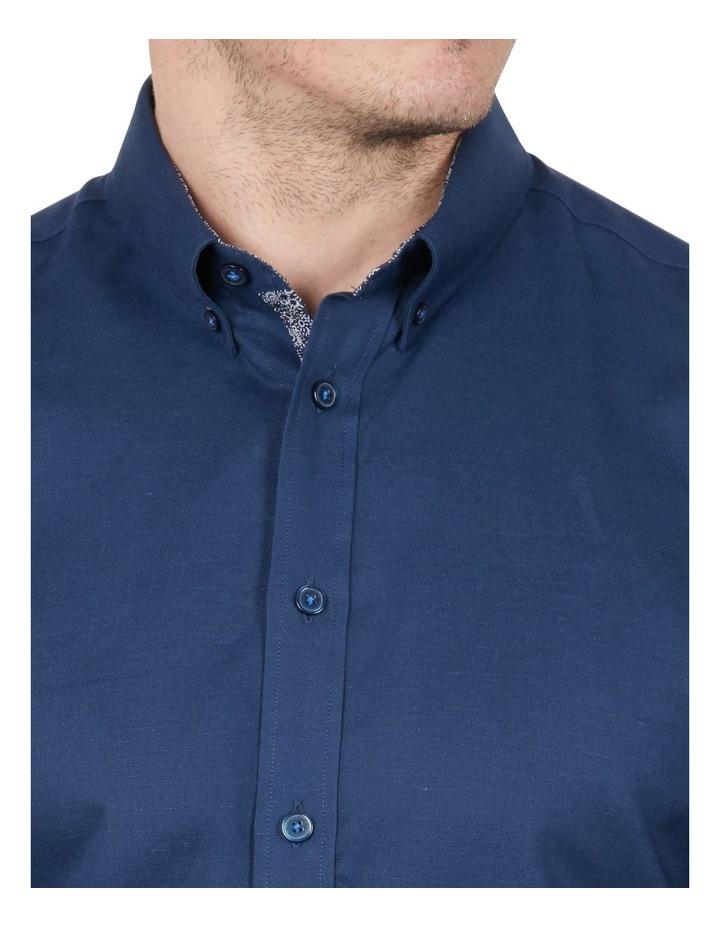 Cotton/Linen Solid Short Sleeve Shirt image 3