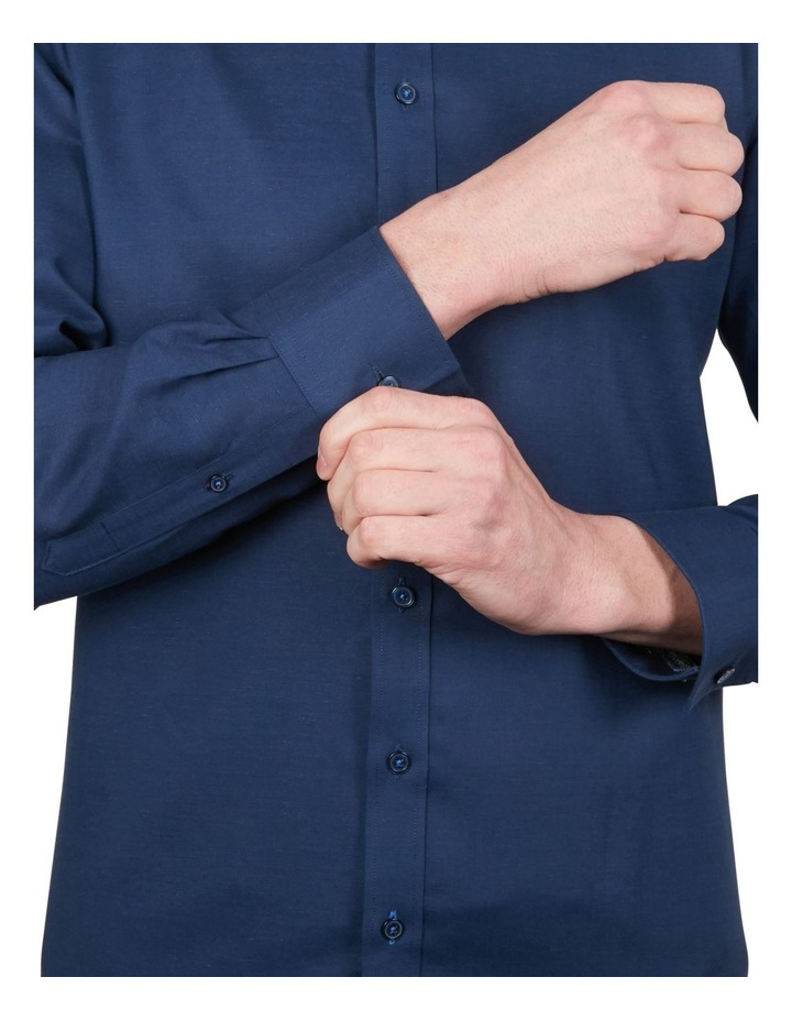 Cotton/Linen Solid Short Sleeve Shirt image 4