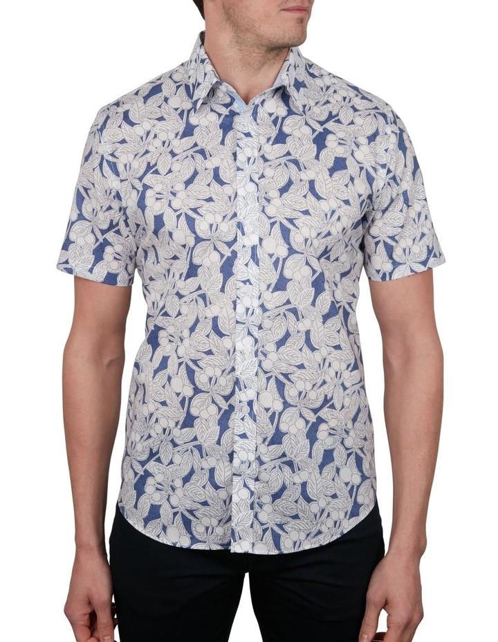 Leaf Print Short Sleeve Shirt image 1