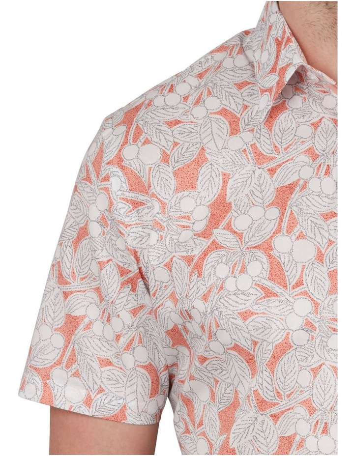 Leaf Print Short Sleeve Shirt image 4