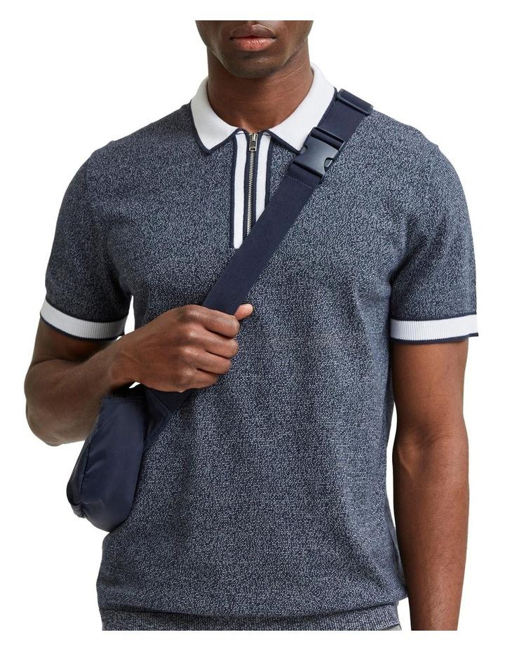 Open Short Sleeve Knit Polo image 5