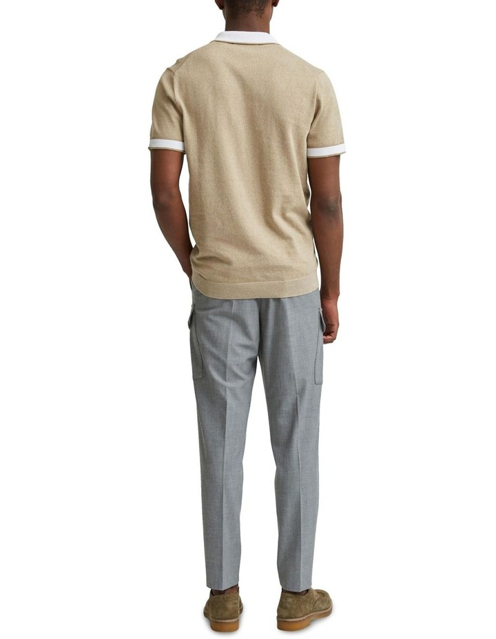 Open Short Sleeve Knit Polo image 2