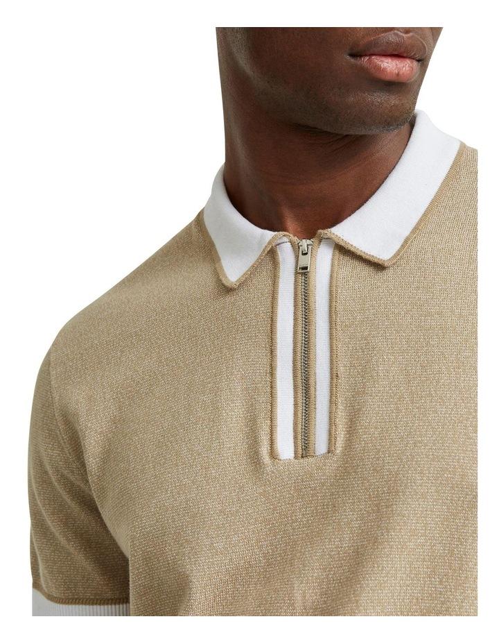 Open Short Sleeve Knit Polo image 4