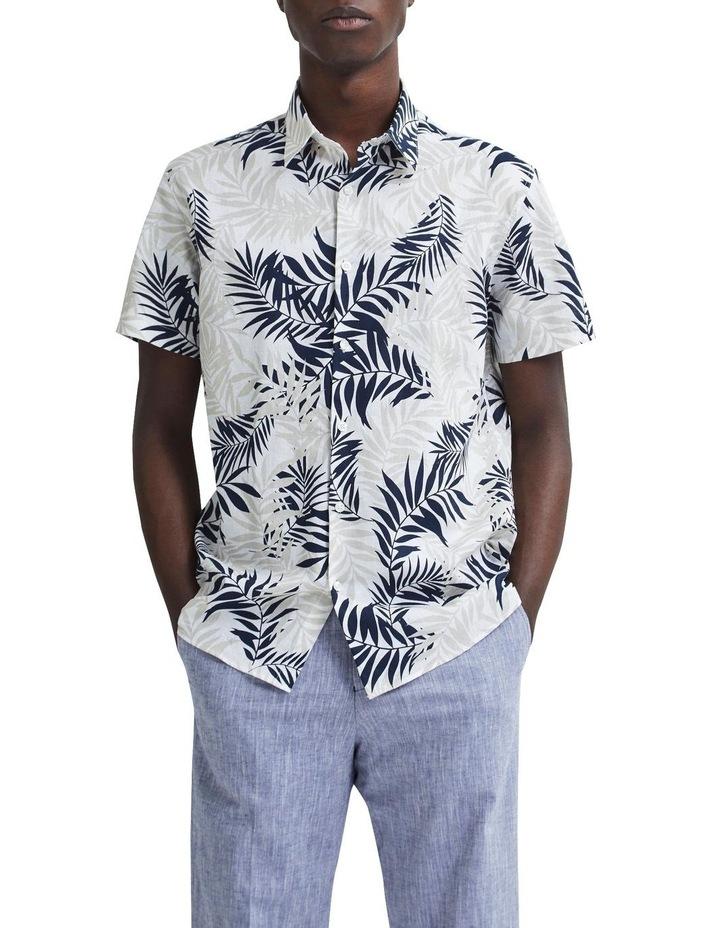 Regular All Over Print Linen Short Sleeve Shirt image 1
