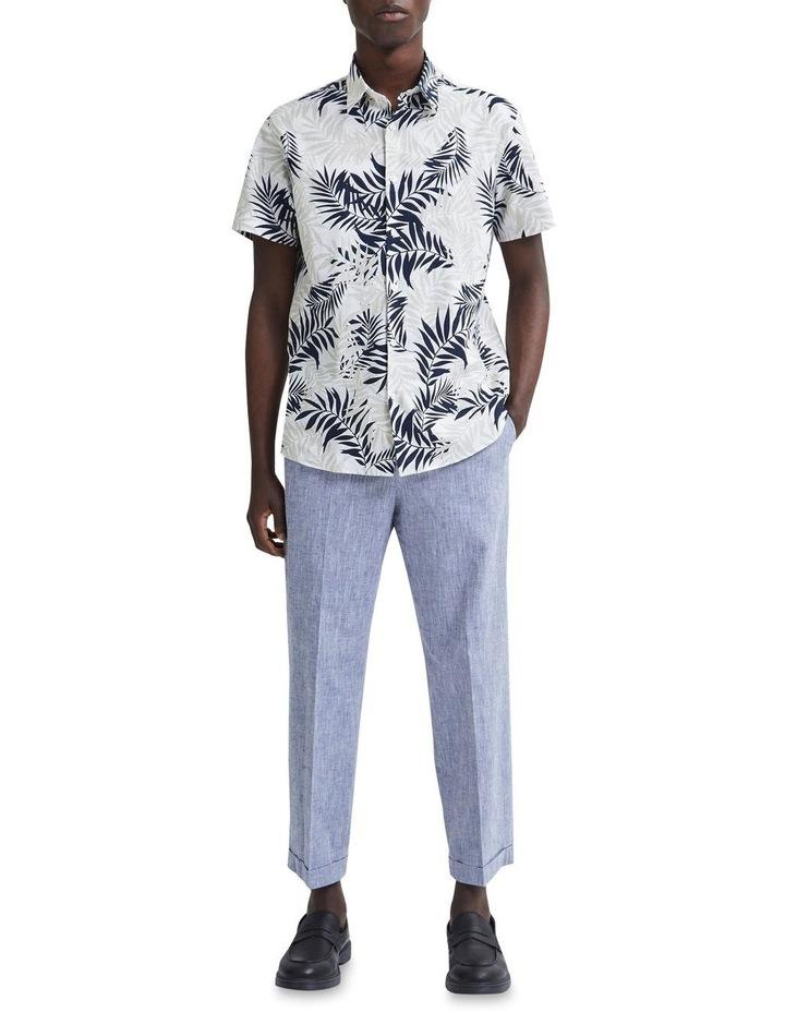 Regular All Over Print Linen Short Sleeve Shirt image 3