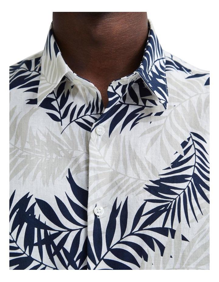 Regular All Over Print Linen Short Sleeve Shirt image 4