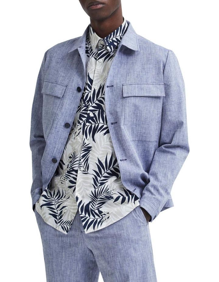 Regular All Over Print Linen Short Sleeve Shirt image 5