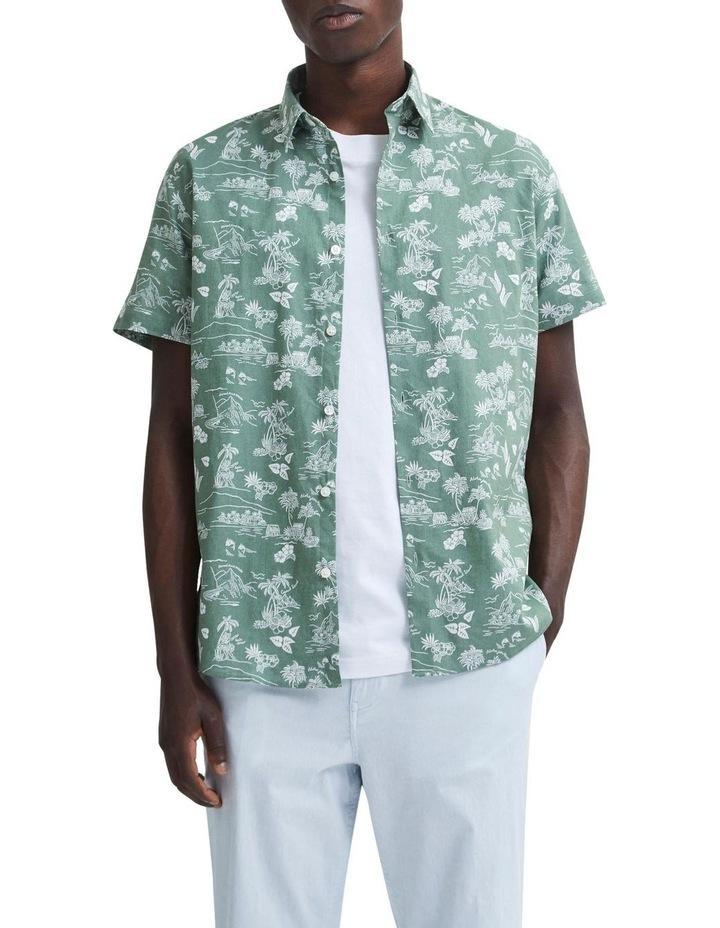 Regular Linen Short Sleeve Shirt image 1