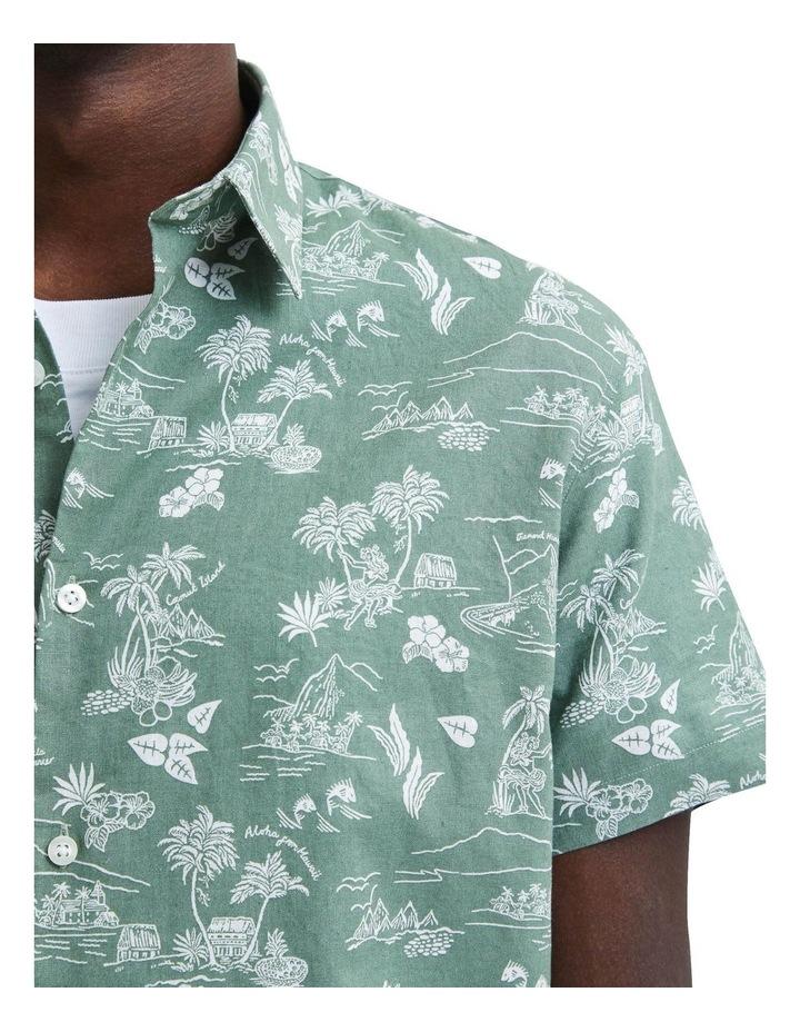 Regular Linen Short Sleeve Shirt image 5