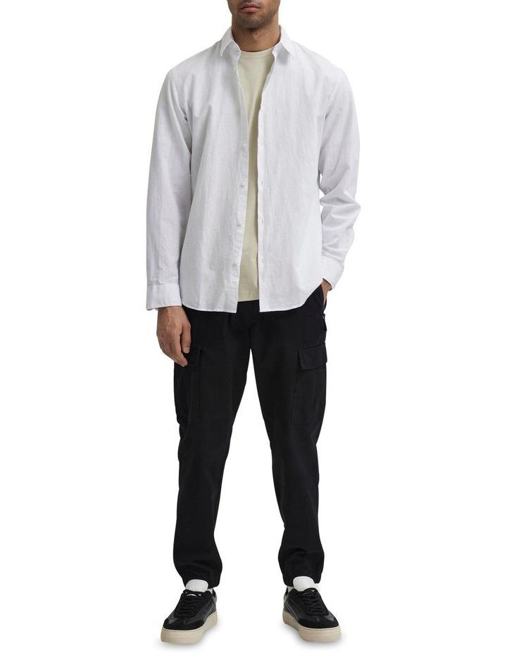 Slim Linen Long Sleeve Shirt image 2