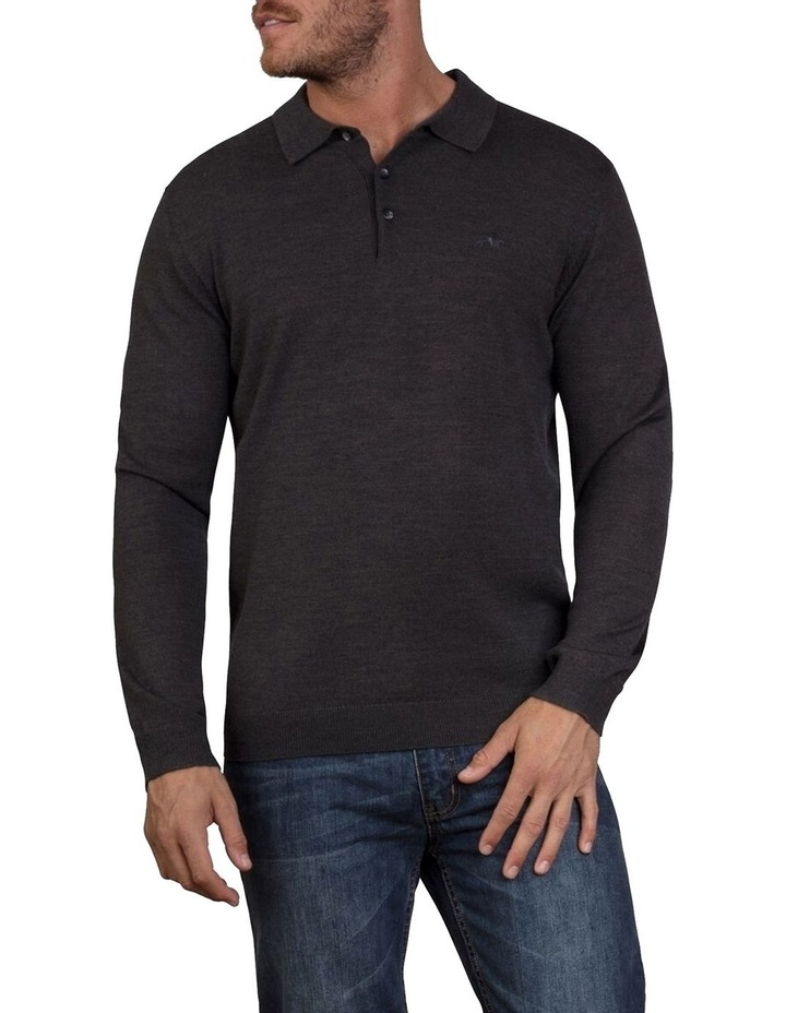 Signature Knitted Long Sleeve Polo image 1