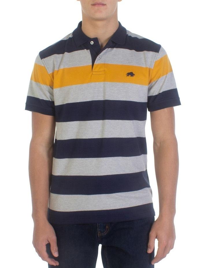 Irregular Stripe Jersey Polo image 1