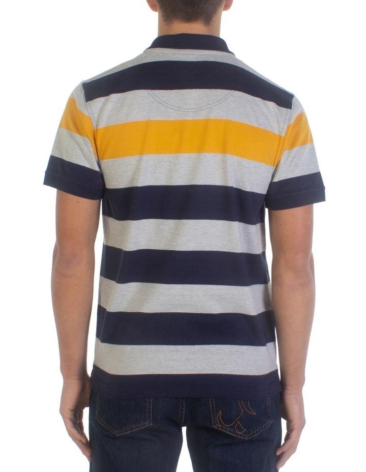 Irregular Stripe Jersey Polo image 2