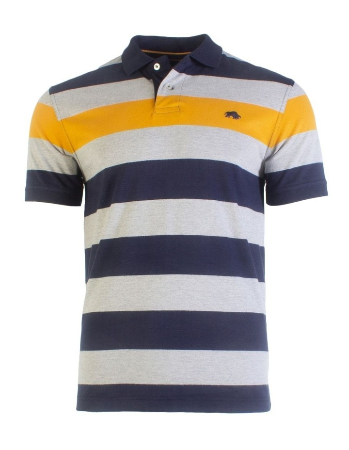 Irregular Stripe Jersey Polo image 3