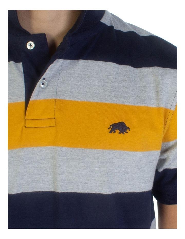 Irregular Stripe Jersey Polo image 4