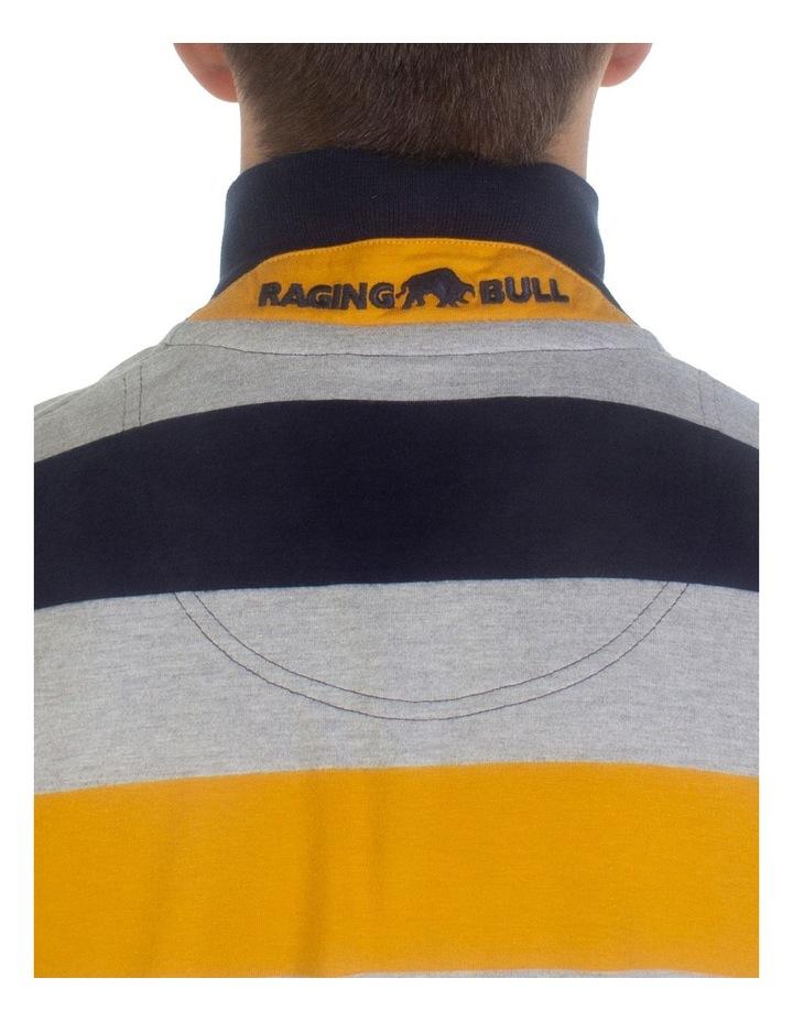 Irregular Stripe Jersey Polo image 5
