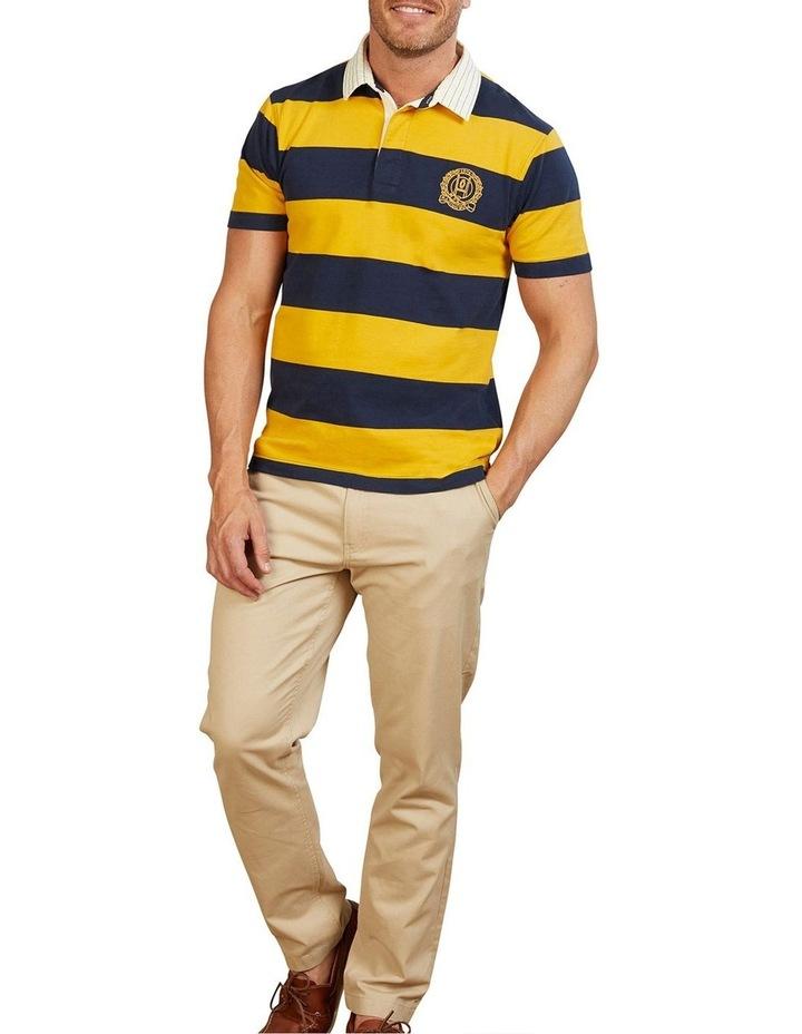 Short Sleeve Block Stripe Rugby image 1