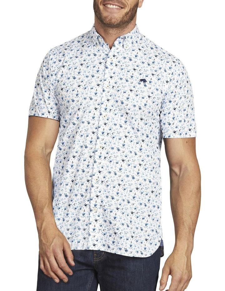 Blossom Print Poplin Short Sleeve Shirt image 1