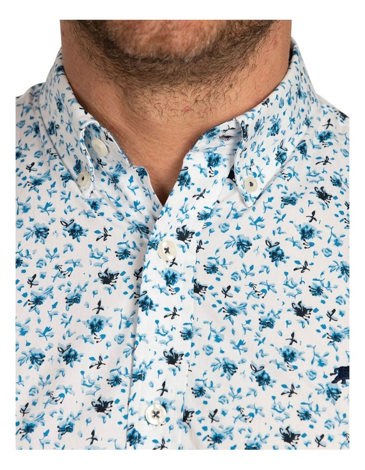 Blossom Print Poplin Short Sleeve Shirt image 5