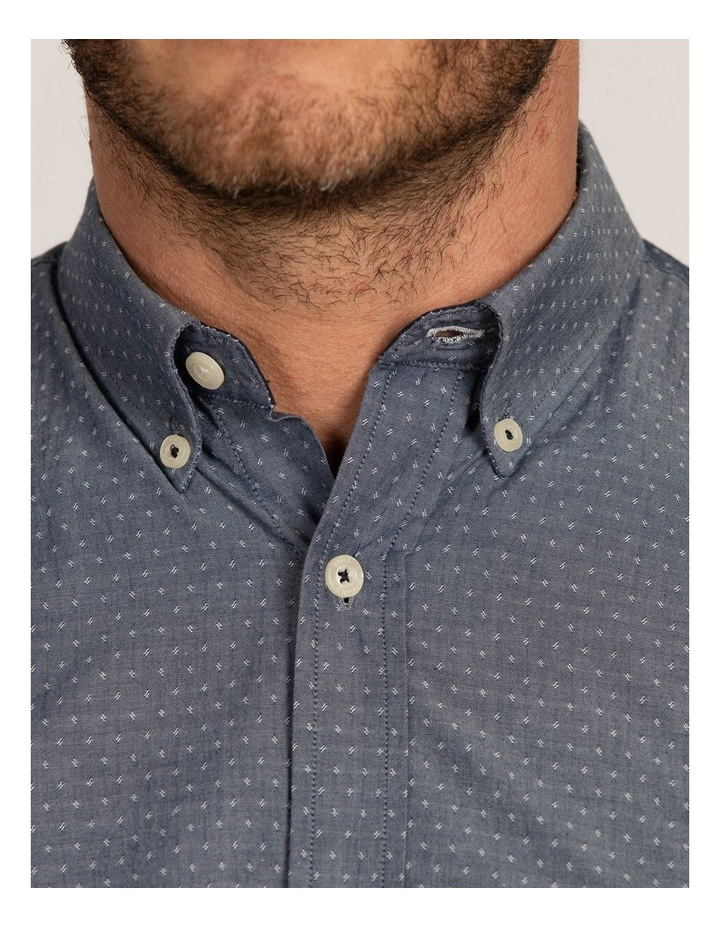 Chambray Dobby Short Sleeve Shirt image 4