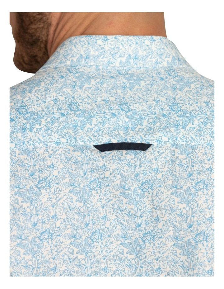 Floral Print Poplin Short Sleeve Shirt image 5