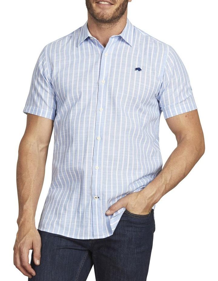 Linen Look Bengal Stripe Short Sleeve Shirt image 1