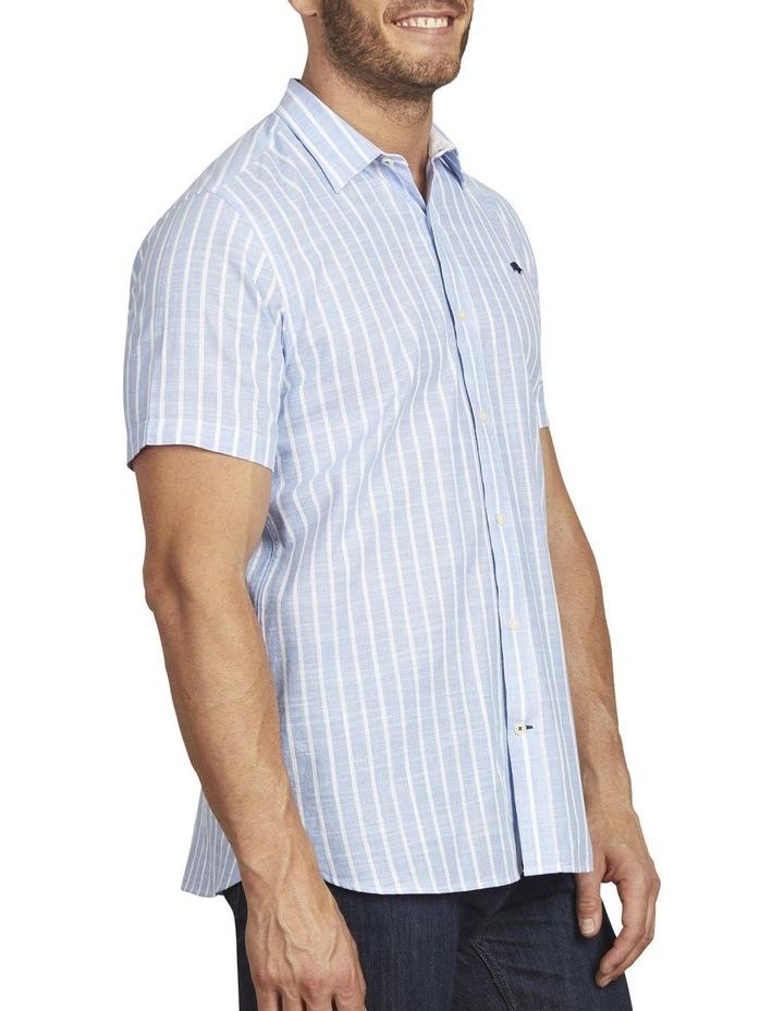 Linen Look Bengal Stripe Short Sleeve Shirt image 2